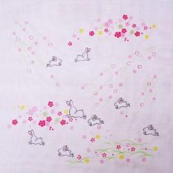 Lapins et fleurs - 35 cm