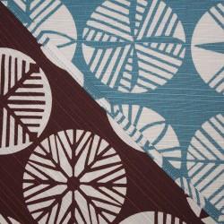 Réversible Matsu bleu turquoise et chocolat - 105 cm