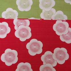 Réversible fleur de prunier Ume rouge et vert - 50cm