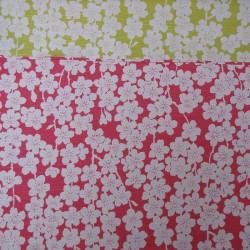 Réversible fleur de cerisier rose et vert - 50cm