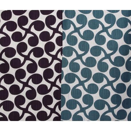 Réversible bleu et prune - 105 cm