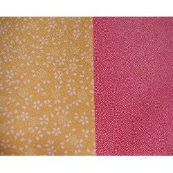 Réversible rouge et jaune -90 cm