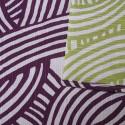 Réversible Rubans entrelacés prune et vert  - 105 cm