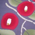 Camélia rouge sur fond gris - 90 cm