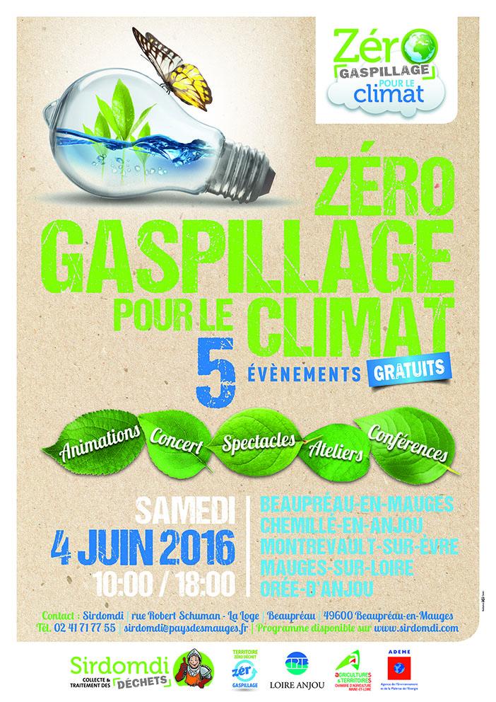 Affiche Zéro gaspillage pour le climat