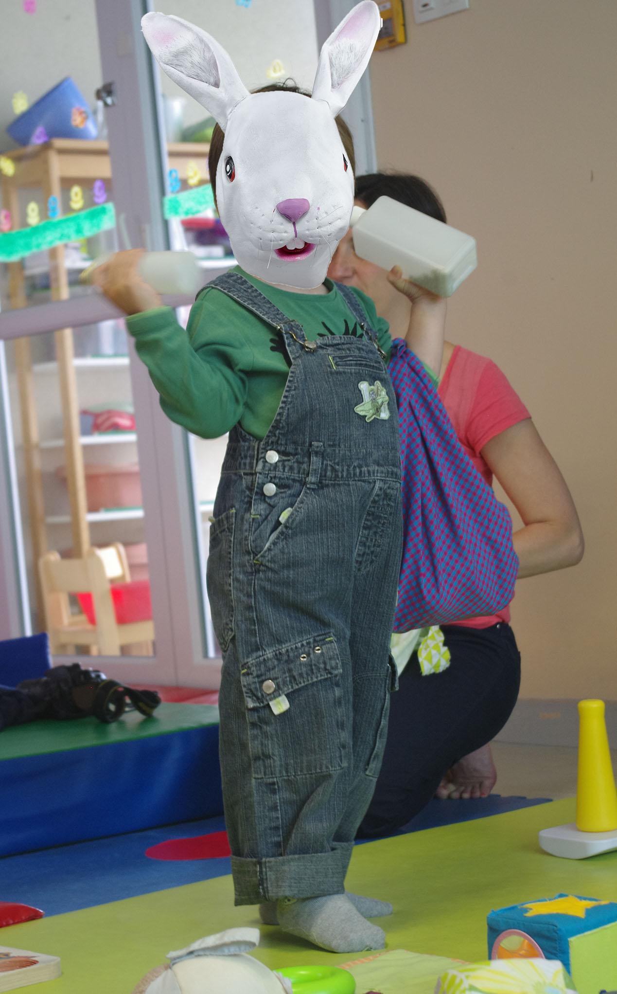 Petit lapin au baluchon à l'Atelier Furoshiki à petit pas