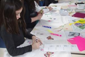 Atelier junior d'initiation et création de furoshiki à Issé, suite